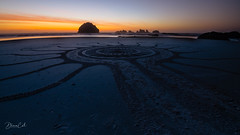 The Symbolic Path (Selectivebits) Tags: beach sand oregon facerock sunset symbol bestcapturesaoi elitegalleryaoi aoi admirationx15