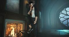 † 1098 † (Nospherato Destiny) Tags: secondlife sl avatar event blogger virtual beard mancave vuk rebellion varonis guy tattoo