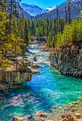 Beautiful Tokumm Creek (http://fineartamerica.com/profiles/robert-bales.ht) Tags: canada forupload places river scenic waterfall famous nature travel landscape water tourism vacation tourist beautiful beauty waterfalls steam evergreen lush sky natural canyon columbia bc park kootenay canadian pine mountains british national landmark rocky panoramic panorama marblefalls tokummcreek vermilionriver hike summer rock geology rough limestone mountain marble
