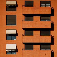 brick house (square) (jotka*26) Tags: brickhouse fullfrontal shadows architecture architektur architectura archdaily architektuur arquitectónica balconies jotka26 berlin germany valencia evivaespaña windows