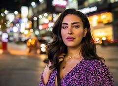 Lights (Paul Saad) Tags: woman pretty beautiful nikon d850 lebanon portrait bokeh girl people brunette model women lights night