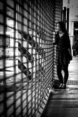 外 望 (Wilson Au | 一期一会) Tags: hongkong kwuntong blackandwhite monochrome shadow lady helios442 fujifilm xe2 manualfocus
