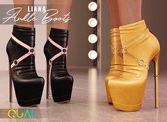 EQUAL - Liana Ankle Boots (EQUAL SL) Tags: secondlife shoes fameshed equal heels slink belleza maitreya legacy alice signature