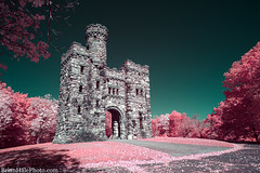 Mystical Castle on the Hill (Brian M Hale) Tags: bancroft tower worcester ma mass massachusetts newengland usa outside outdoors 590nm ir infrared kolari vision kolarivision color castle architecture brian hale brianhalephoto hill