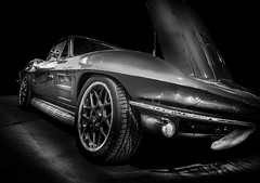 1963 (Dave GRR) Tags: chevrolet corvette classic retro vintage old car autoshow toronto motorama sportscars supercar monochrome mono black olympus