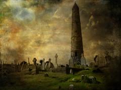 Halloween (Le.Patou) Tags: irlande ireland dungarvan fz18 cemetary texture halloween compo photomontage atmosphere creepy grave cimetière tombe doom gloomy