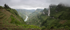 Ha Giang 15 (arsamie) Tags: hagiang vietnam asia panorama stitch wide angle green nature wild mountains hills north climb hike clouds fog valley meo vac dong van pass hmong china