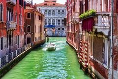 Venezia (3)- Venice (3) (Eugenio GV Costa) Tags: approvato venice gondolas water lagoon sea clouds italy italia venezia palazzi palaces acqua città canali outside laguna