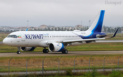 9K-AKN Airbus A320 Neo Kuwait Airways, delivery flight (@Eurospot) Tags: kuwaitairways 9kakn airbus a320 neo toulouse blagnac 9303