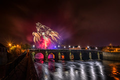 """Strabane - Halloween Fireworks Display 2019"" (Gareth Wray - 13 Million Views, Thank You) Tags: water autumn northern ireland bridge main night halloween firework fireworks melvin wall street ni uk scenic landscape riverscape sperrins county tyrone gareth wray photography strabane nikon d810 nikkor wide lens sky tourist tourism mourne river site visit country side reflection reflections british irish colourful derry council bank nature flowing photographer town lifford border day vacation holiday europe show footbridge pedestrian walk 14mm 2019 foot display"