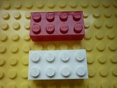 Wrexham brick and Samsonite double logo (Ó Cléirigh) Tags: lego samsonite 2x4 double logo sideways 3001 wrexham