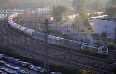 Mili-Tano (Mariano Alvaro) Tags: renfe 333 360 prima diesel locomotora tren train militar coches butano vagones san cristobal madrid vicalvaro huelva niebla humo curva