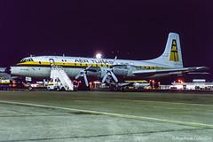 EI-BBH / LTN 02.1981 (propfreak) Tags: propfreak propfreakcollection slidescan ltn eggw luton eibbh bristol b175 britannia253c aerturas raf xm491 kataleaerotransport 9qcmo bristolbritannia royalairforce cityofcork