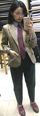 Stacy (bof352000) Tags: woman tie necktie suit shirt fashion businesswoman elegance class strict femme cravate costume chemise mode affaire
