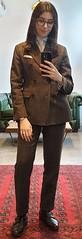 Giulietta (bof352000) Tags: woman tie necktie suit shirt fashion businesswoman elegance class strict femme cravate costume chemise mode affaire
