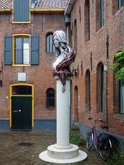 Scarlet Heritage. 'Beeld voor de Vishoek' by Anne Wenzel, Vishoek, Groningen, The Netherlands (Rana Pipiens) Tags: prostitution redlightdistrict vishoekgroningenthenetherlands annewenzel sculpture ceramics middleages groningenthenetherlands scarletheritage woman