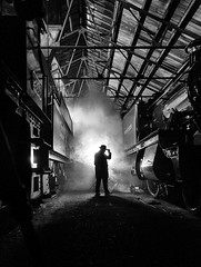 And now the 'Billie Jean' routine by the Depot Foreman (photofitzp) Tags: billiejean blackandwhite didcotmpd light mj michaeljackson railways smoke steam timelineevents bw goldcollection