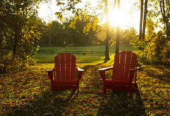 Chillin' It (Matt Champlin) Tags: tgif friday coleswindell chillin it chill lazy fall autumn peaceful morning sunrise calm calming chairs adk adirondack country rural life home canon 2019