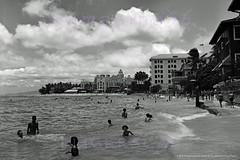 Waikiki Beachfront Ewa  1946 (Kamaaina56) Tags: 1940s waikiki hawaii beach realphoto