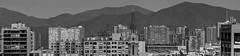 CITY v/s HILLS (javier_carras) Tags: skyline pentaxart pentaxsmc santiago chile skyscrapers cityscape rascacielos edificios panoramic urbanlandscape towers pentax justpentax silhouette smcpentax300 pentaxk3 monochrome bw density highrises cranes pentaxian pentaxeros pentaxgear pentaxfun pentaxlovers pentaxlife