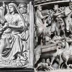29 Никколо Пизано. Кафедра баптистерия в Пизе. Поклонение волхвов