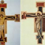 24  Джунта Пизано. Распятие. Ассизи 1236 -  Джованни Чимабуе Распятие Флоренция 1265