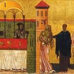 18в Джунта Пизано. Св.Франсиск с клеймами 1250-60. Исцеление бесноватой