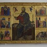 23 Неизвестный мастер Иоанн Предтеча на троне с житием Сиена 1270-80