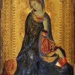 49 Симоне Мартини Мадонна из диптиха Благовещение 1333  Эрмитаж
