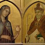 46 Симоне Мартини Мария Магдалина и блж Августин Часть полиптиха Сиена 1320-25
