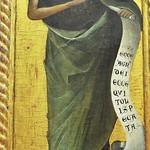 60а Паоло Венециано Богородица и святые, Фрагмент - Иоанн Предтеча, 1354