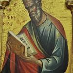 60в Паоло Венециано Богородица со святыми Фрагмент - Евангелист Иоанн 1354