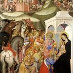 63 Бартоло ди Фреди Поклонение волхвов. Фрагмент 1370-80 Пинакотека, Сиена
