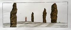 Les Menhirs (J-M.I) Tags: aquarelle art house architecture hautegaronne 31 toulouse watercolour aveyron 12 dessin illustration graphisme aubrac vines castelginest artiste exposition crayonsdecouleur encredechine