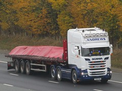 Paul Andrews Transport, Scania R580 (Y400PAH) On The A1M Northbound (Gary Chatterton 7 million Views) Tags: paulandrewstransport scaniatrucks scaniar580 y400pah trucking wagon lorry haulage distribution logistics motorway transport flickr canonpowershotsx430 photography