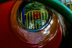 Tunnel of fun (Thanathip Moolvong) Tags: nikon fe 50mm f14 ais kodak plus 200 negative film tunnel playground fun