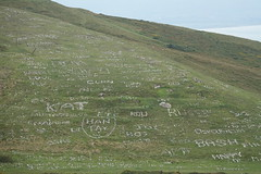 Luke (see Sep 2014) see what you started!!! DSC07856 (rowchester) Tags: great orme wales names hillside