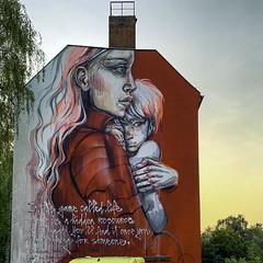 - love - (PAPFOO) Tags: street streetart berlin streetartberlin herakut red mural graffiti