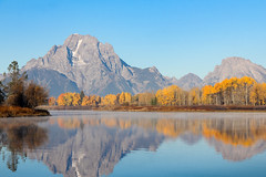 Before the Snow Comes (Robert F. Carter) Tags: oxbowbend snakeriver wyoming tetons grandtetonnationalpark rivers fall autumn gold mountains digitalpainting digitalpaintings ngs ncs impressionism impressionist impressionists ngc