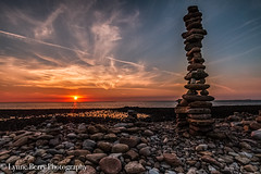 TEARS AT SUNRISE (lynneberry57) Tags: seascape lanscape beach sunrise colour orange sky clouds rocks building water sea tide nature light canon70d leefilters morning cairn coast holyisland lindisfarne northumberland
