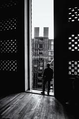 Standing On The Edge (sdupimages) Tags: blackwhite noirblanc noiretblanc street rue london londres bw nb monochrome window edge fenêtre