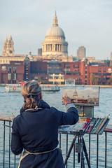 The Postcard (sdupimages) Tags: street rue london londres painter peintre artiste art