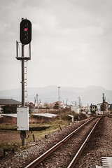 red signal (Sat Sue) Tags: olympus micro four thirds m43 penf japan fukuoka railroad tachiarai station