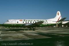 G-BLOA  Viscount 806  Guernsey Airways (caz.caswell) Tags: 4xrollsroycedarttuurbopropengines rr rrdart vickers viscount vickersviscount airliner turbopropairliner sdv acc pos yow lhr lgw gib lpl fco phl dus gbloa guernseyairways