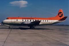 G-AOYI  Viscount 806  Cambrian (caz.caswell) Tags: 4xrollsroycedarttuurbopropengines rr rrdart vickers viscount vickersviscount airliner turbopropairliner sdv acc pos yow lhr lgw gib lpl fco phl dus gaoyi cambrian