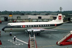 G-AOHI  Viscount 802  BEA (caz.caswell) Tags: 4xrollsroycedarttuurbopropengines rr rrdart vickers viscount vickersviscount airliner turbopropairliner sdv acc pos yow lhr lgw gib lpl fco phl dus gaohi bea britisheuropeanairways
