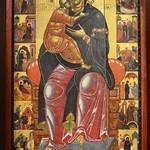14 Круг Коппо ди Марковальдо. Богородица на троне с житием. Флоренция XIII в