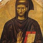 18а Джунта Пизано. Св.Франсиск с клеймами 1250-60. Фрагмент