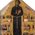 18 Джунта Пизано. Св.Франсиск с клеймами чудес исцелений 1250-1260