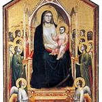 37 Джотто. Богородица на престоле, 1310 Галерея Уфицци, Флоренция
